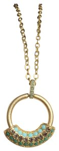 Lia Sophia Lia Sophia Gold Tone Necklace Pendant Medallion Crystal