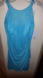 David's Bridal Light Teal Blue Dress