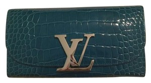 Louis Vuitton Louis Vuitton Alligator Vivienne Lv Long Wallet Teal