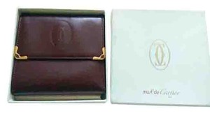 Cartier Certified Cartier Leather Wallet, Red