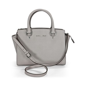 Michael Kors Mk Satchel in Pearl Gray/Silver hardware