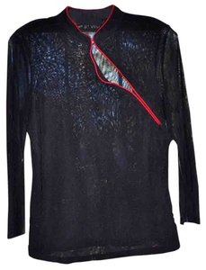 INC International Concepts Night Out Night Club Top Black and Red