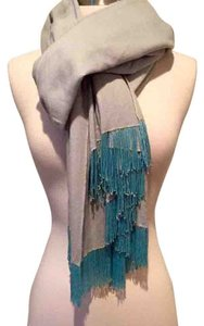 Anthropologie Anthropologie UK OOAK blue beaded Kashmiri Pashmina Shawl