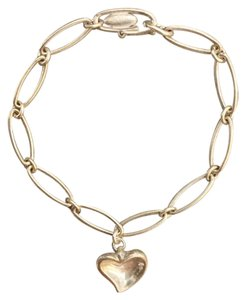 Tiffany & Co. AUTHENTIC Tiffany & Co. Elsa Peretti Carved Heart Sterling Silver Bracelet
