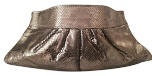 Lauren Merkin Evening Silver Metallic Metallic Silver Clutch