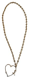 Juicy Couture Long Gold Heart Necklace