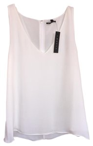 Theory Silk White White Top
