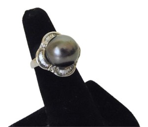 Pearlfection Pearlfection Faux Black South Sea Pearl Ring 7