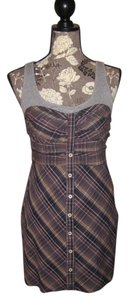 Free People short dress MULTI COLOR Fall Picnic Plaid Sheath Tank Top on Tradesy
