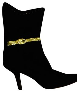 0 Degrees Black/rhinestone Bow Boots