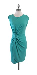 Catherine Malandrino short dress Turquoise Cap Sleeve on Tradesy