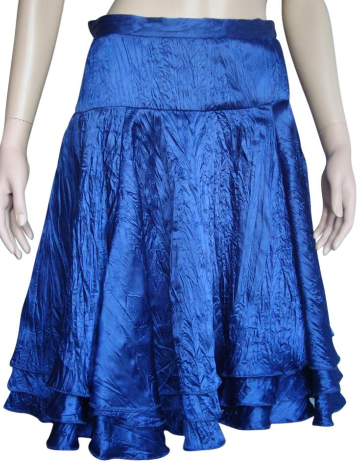 f8f1269a71 Marc Jacobs Royal Blue Crinkled Silk Skirt Size 2 (XS, 26) - Tradesy