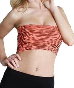 Nikibiki Neon Zebra Animal Print Zebra Print Bandeau Top Orange