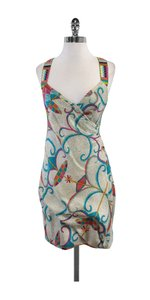 Nicole Miller short dress Cross Strap Patterned Silk on Tradesy