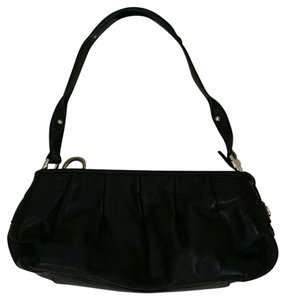 Laundry by Shelli Segal Pebbled Leather Satchel in black