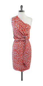 Diane von Furstenberg short dress Coral Grey One Silk on Tradesy