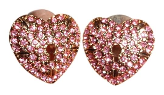 Betsey Johnson Heart shaped earrings