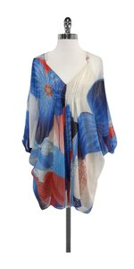 Diane von Furstenberg short dress Blue Coral Chiffon Kaftan on Tradesy