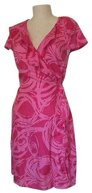 Item - Pink Wrap Above Knee Work/Office Dress Size 8 (M)