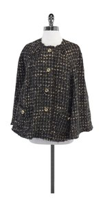 Dolce&Gabbana Brown Black Tweed Cape