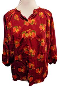 Tucker Casual Longsleeve Floral Top Multi-Color