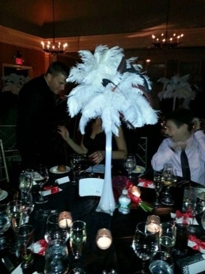 White Ostrich Feather Centerpiece