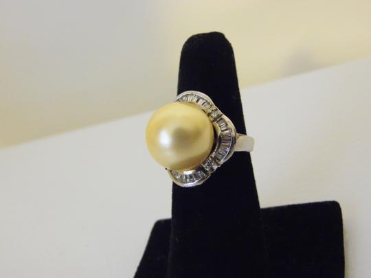 Pearlfection Pearlfection Faux Golden South Sea Pearl Cocktail Ring size 7