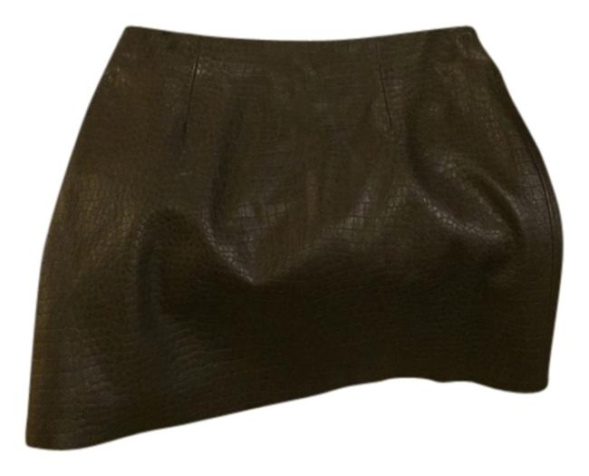 Express 100% leather Mini Skirt Chocolate brown