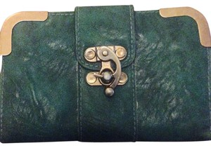 Teal wallet with gold accents Green Teal Gold