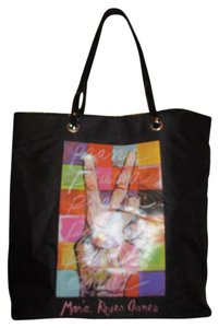 Marie Reyes Jones Tote in black multi