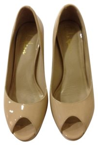 Cole Haan Pumps Nude Patent Platforms