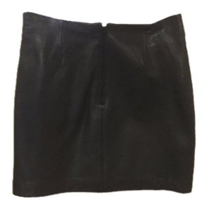 Express 100% leather Mini Skirt Black