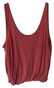 Free People Unworn Effortless Bubble Hem Top Washed Red