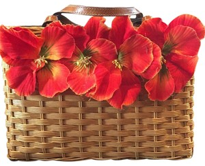 Kate Spade Tote in Tan Orange Flowers