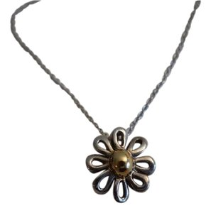 Tiffany & Co. Paloma Picasso 18K Yellow Gold & Sterling Silver Daisy Necklace