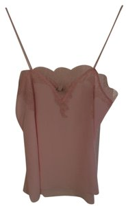 CAMI NYC Lace Silk Pink Strappy Top Light Pink