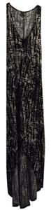 Black/White Maxi Dress by Mossimo Supply Co. Print Stretch