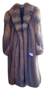 Custom fur Crystal Full Length Fox Fur Coat