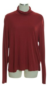 Eileen Fisher Long Sleeve Knit Top Red