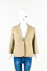 The Row The Row Sepia Cotton Remy Collared Blazer Jacket