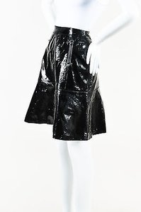 Chanel Patent Leather Skirt Black