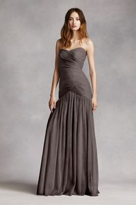 White by Vera Wang Charcoal Vw360154 Feminine Bridesmaid/Mob Dress Size 10 (M)