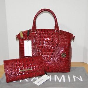 Brahmin Duxbury Wallet Satchel in Carmine Red