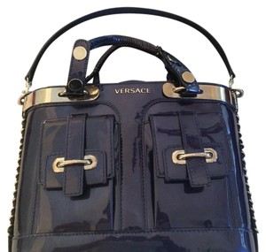 Versace Satchel in Blue Patent