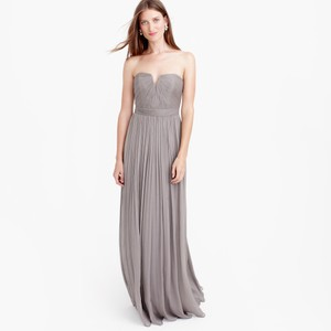 J.Crew Graphite Nadia Long Dress In Silk Chiffon Dress