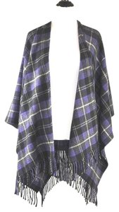 Ralph Lauren Wrap Wool/cashmere Plaid Cape