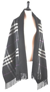 Burberry Check Cashmere/Wool Pocket Scarf Cape