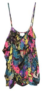 Parker Spaghetti Strap Silk Top Multi-color