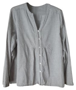 Coldwater Creek Petite Cotton Striped Longsleeves Tunic