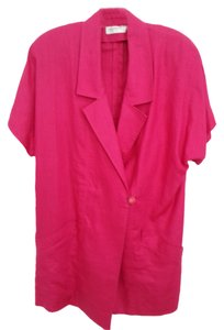 Liz Claiborne wonderful raspberry linen suit
